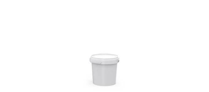 1 Litre Plastic Pail White