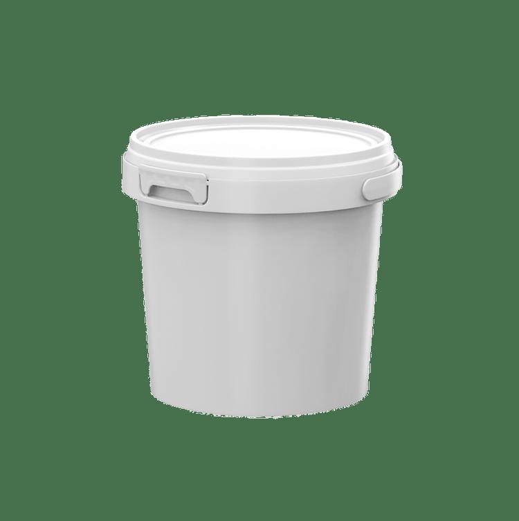 1 litre plastic pail with T tab