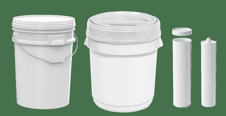 Plastic packaging bulk white